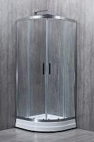 Cabina de dus semirotunda EUROPE sticla 6 mm Transparenta 90x90x190