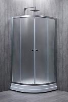 Cabina de dus semirotunda EUROPE sticla 4mm mat 90x90x180