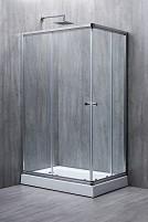 Прямоугольная душевая кабина ELEGANT стекло 6 mm прозрачное 140x70x190