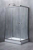 Cabina de dus dreptunghiulara ELEGANT sticla 6 mm Transparenta 120x80x190
