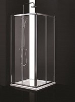 Cabina de dus patrata CPT408G sticla 6 mm Fumurie 80x80x185