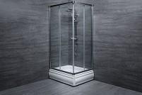 Cabina de dus dreptunghiulara L410 sticla 6 mm Transparent 100x80x185