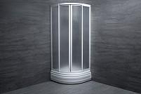 Cabina de dus semirotunda Plexiglass PLU-90 mat 90x90x182