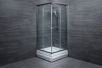 Cabina de dus patrata T408 sticla 6 mm Transparent 80x80x180