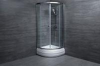Cabina de dus semirotunda U409 sticla 6 mm Transparenta 90x90x180
