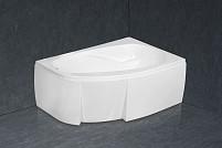 Акриловая асимметричная угловая ванна Amanda 150x100cm