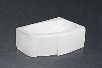 Cada de baie asimetrica acryl Amanda 150x100cm